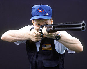 ISSF Olympic trap - Image: Shooting at the 1987 Pan American Games