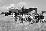 Short Stirling at Prag - Royal Air Force - Fighter Command, No. 38 Group RAF. CH15898.jpg