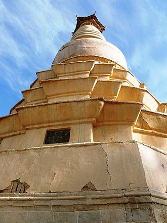 White Horse Pagoda, Dunhuang - Showing construction of pagoda