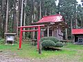 Shume-jinja shrine at Araogawa-jinja shrine Okumiya.JPG