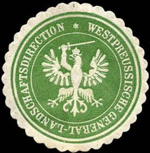 Prussian estates - Sealing stamp of the Westpreussische Landschaft