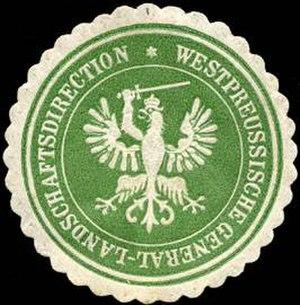 Prussian estates - Sealing stamp of the Westpreussische Landschaft