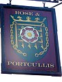Sign for the Rose and Portcullis - geograph.org.uk - 1565597.jpg