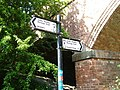 Signpost on the Ashby Woulds Heritage Trail, Oakthorpe and Donisthorpe, Leicestershire.jpg