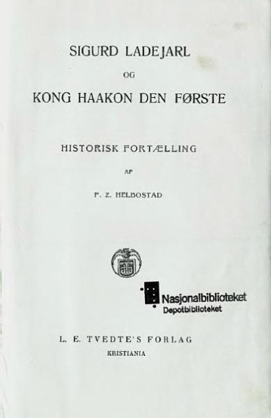 File:Sigurd Ladejarl og Haakon I.djvu
