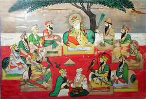 Sikh gurus - Guru Nanak with the Other Nine Gurus, Bhai Puran Singh