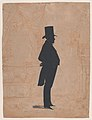 Silhouette of an unknown man in a top hat and tails Met DP887324.jpg