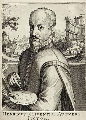 Hendrick van Cleve III - Engraved portrait of Hendrick van Cleve by Simon Frisius, published c. 1610