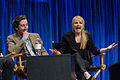 Simon Helberg and Melissa Rauch at PaleyFest 2013.jpg