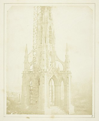 Scott Monument - Scott's Monument as it appeared when nearly finished, in October 1844.