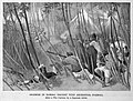 Skirmish in bamboo thicket with aborigines, Formosa (after a war cartoon by a Japanese artist).jpg
