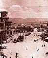 Skopje, plostadot na razglednica, 1929.jpg