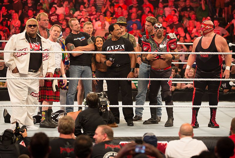 Rikishi (far left), as one of Heath Slater's veteran conquerors at Raw 1000. - Rikishi (wrestler)