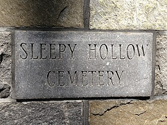 Sleepy Hollow Cemetery (Concord, Massachusetts) - A sign by the cemetery