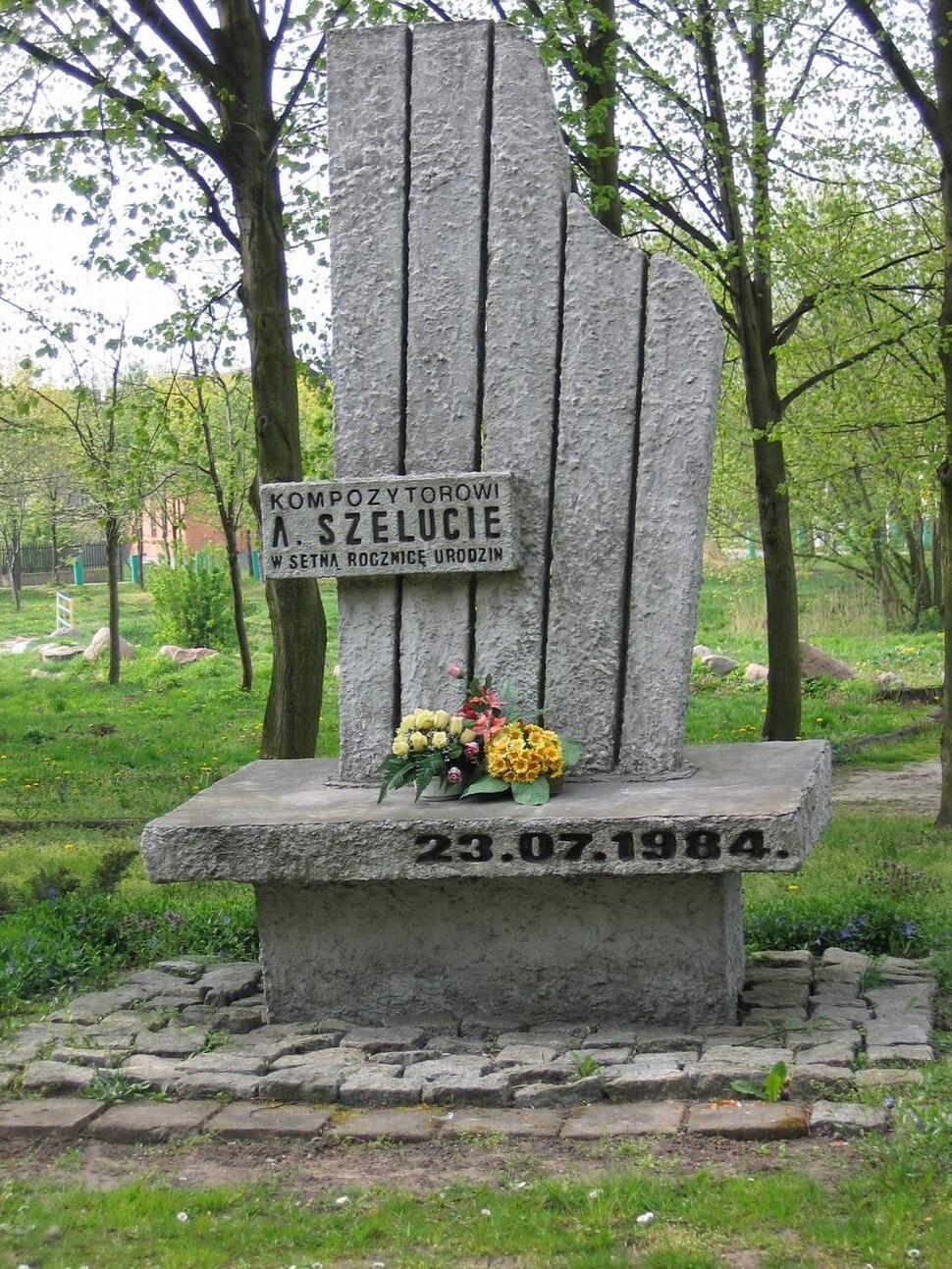 Slupca - pomnik pamieci Apolinarego Szeluty