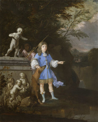 John Arundell, 2nd Baron Arundell of Trerice - Portrait of a boy, painted circa 1680s, possibly of John Arundell, 3rd Baron Arundell of Trerice (1678–1706), son and heir of the 2nd Baron by his 1st wife. By Gaspar Smitz (1635–1707), National Trust, Trerice House