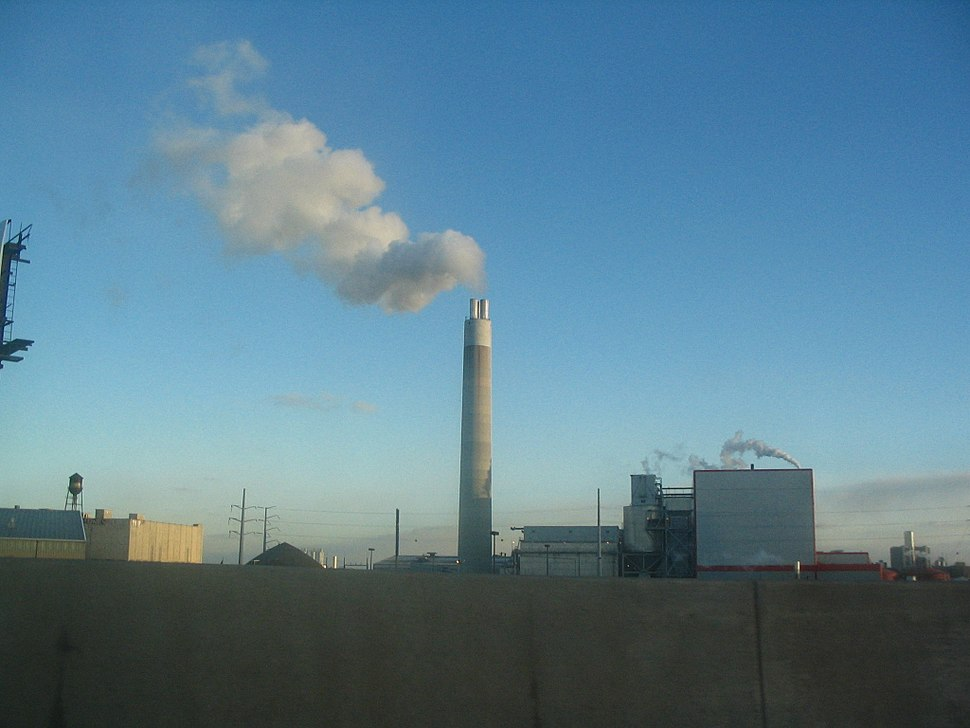 Smokestack in Detroit