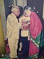 Smt.Mani Krishna Swamy Padmashri Award from President K R Narayanan.jpg