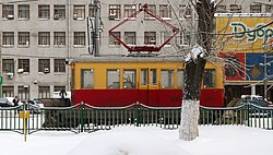 Snow plow tram Moscow 31 dec 2010.jpg