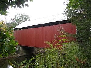 Locust Township, Columbia County, Pennsylvania - Snyder Covered Bridge No. 17 crossing Roaring Creek in Locust Township