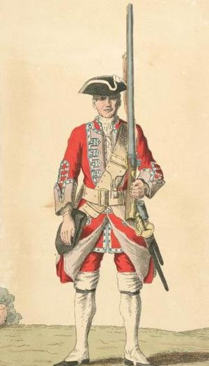 48th (Northamptonshire) Regiment of Foot - Soldier of 48th regiment, 1742