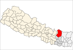 map of Solukhumbu, Nepal