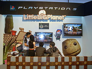 Sony Fair 2008: PS3 LittleBIGPlanet showcase area.