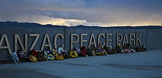 ANZAC Peace Park - Wreaths from Anzac Day 2016