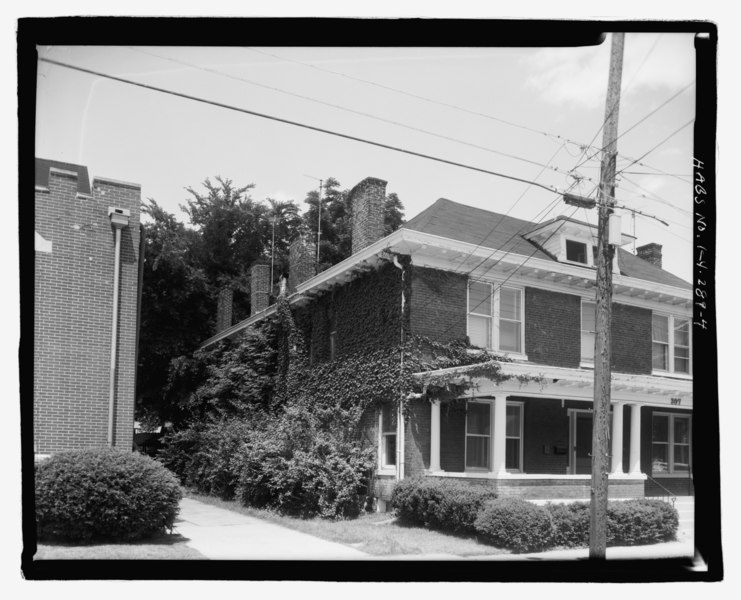 File southwest corner of building facing northeast for Broadway house