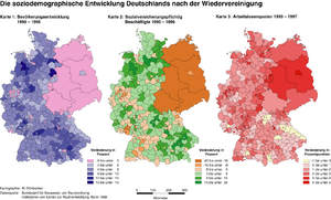 New states of Germany - The socio-demographic development of Germany after reunification