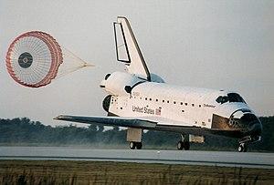 Soft landing (rocketry) - Space Shuttle orbiter during soft landing