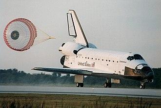 Soft landing (aeronautics) - Space Shuttle orbiter during soft landing