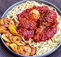 Spaghetti and fried plantain.jpg
