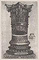 Speculum Romanae Magnificentiae- Decorated capital and base in the Temple of Jupiter, Rome MET DP870196.jpg