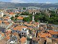 Split, S cast palace a mesta, pohori Kozjak.jpg
