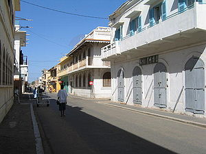 Saint-Louis, Senegal - Colonial buildings lining the island of Saint-Louis