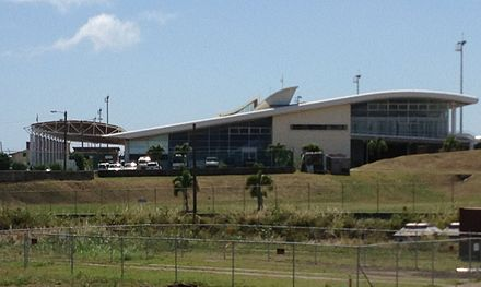 Robert L. Bradshaw International Airport on St Kitts St. Kitts Airport Terminal from side.jpg