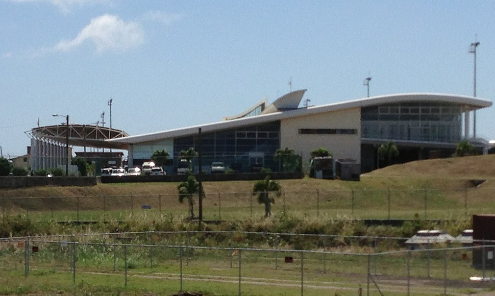St. Kitts Airport Terminal from side