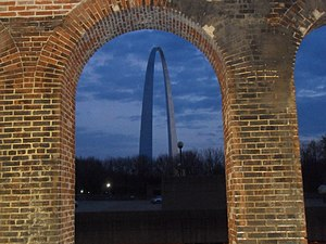 St. Louis Arch from Metro Link..JPG