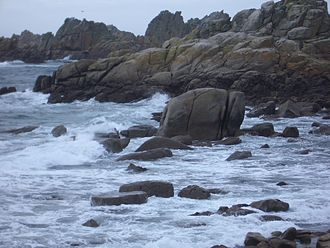 St Agnes, Isles of Scilly - A rock formation on the south west side of St. Agnes that looks like an elephant