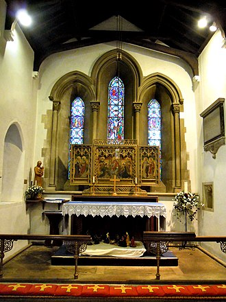 Church of St Katharine, Ickleford - Image: St Katharines Church Ickleford Chancel