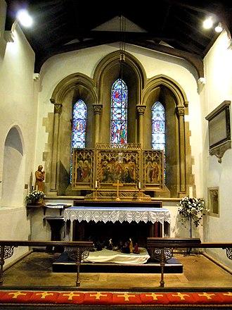 Church of St Katharine, Ickleford - Image: St Katharines Church Ickleford Chancel