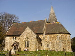 Listed buildings in Crawley - St Nicholas' Church, the ancient parish church of Worth, has Saxon origins.