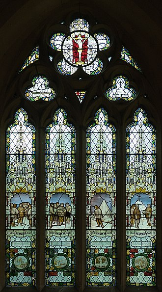 Charles Eamer Kempe - The Scott Memorial Window in St Peter's Church, Binton