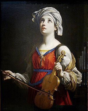 Blind musicians - Saint Cecilia by Guido Reni, 1606