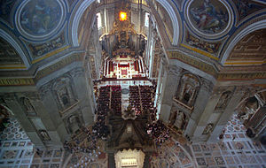 Interior of St. Peter's  Basilica, Rome