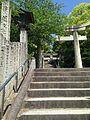 Stairs and torii on sando of Miyajidake Shrine.jpg