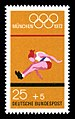 Stamps of Germany (BRD), Olympiade 1972, Ausgabe 1972, Block 2, 25 Pf.jpg