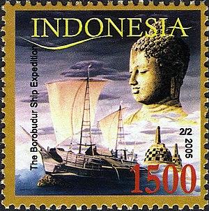 Borobudur ship - Image: Stamps of Indonesia, 039 05
