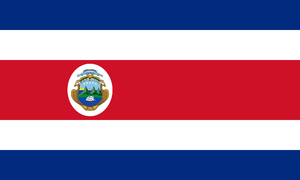 Costa Rican Civil War - Image: State Flag of Costa Rica (1906 1964)